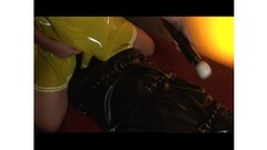 January seraph getting her pussy licked while dressed in rubber outfit Thumb