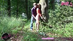 Horny German Submissive Milf Outdoor Punishment Thumb