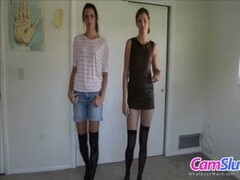 Flirt4Free Model Ivanna Bella - Bisexual Brunette Babe Plays with Both of Her Sweet Tight Holes Thumb